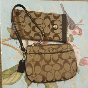 Coach wristlet and glasses case